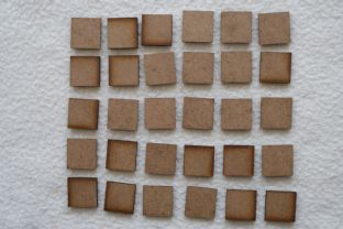 MDF Bases 20S 20mm Square Bases Lasercut (30x per Pack)
